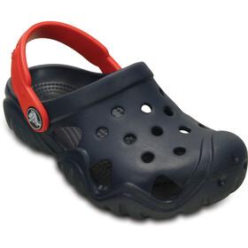 Crocs Swiftwater Clogs Kinder navy/flame